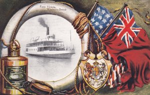 WINDSOR , Ontario , Canada , 1908 ; Ferry Victoria