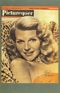 Nostalgia Postcard 1946 Movie Queen Rita Hayworth, Picturegoer, Repro Card NS8