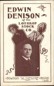 Edwin Denison Lothrop Stock Co Bowdoin Square Theatre Boston MA Actors PMC