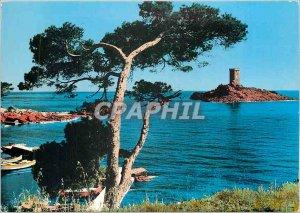 Postcard Modern Dramont (Var) Golden Island