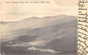 White Mtns New Hampshire Crawford House from Mt Avalon antique pc Z21461
