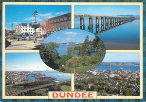 Postcard Scotland Dundee several sights and aspects