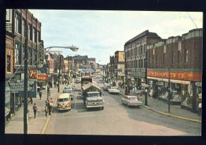 Moncton, New Brunswick/N.B., Canada Postcard, Main St, Volkswagon Bus/Woolworths