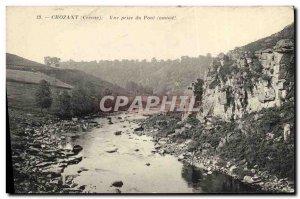Old Postcard Crozant View Bridge Jack