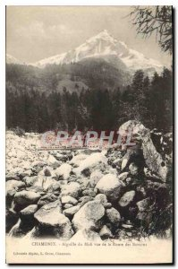 Old Postcard Chamonix to Aiguille du Midi Route des Bossons