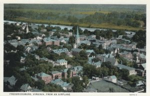 FREDERICKSBURG, Virginia, 1900-10s; View from an Airplane