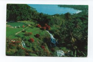 Postcard airline issue PAN AM 1950s CLIPPER AIRPLANE ROUTE JAMAICA OCHO RIOS