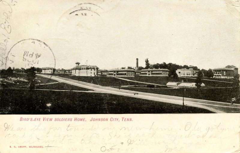 TN - Johnson City. Soldiers Home, Bird's Eye View.  *RPO- Bristol & Chattanoo...