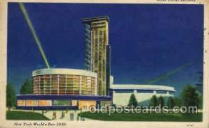 New York Worlds Fair 1939 exhibition postcard Post Card  Glass Center Bldg.