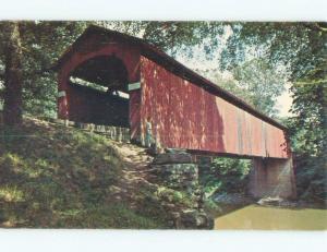 Pre-1980 COVERED BRIDGE Sedalia Missouri MO d4517