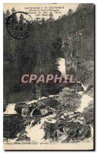Old Postcard The Pyrenees Cauterets Bridge Road Spain Cascade of Pas de l'Ours
