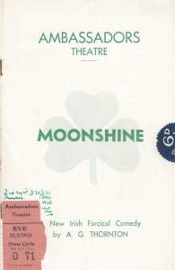Moonshine Irish 1938 Comedy Theatre Programme & Ticket