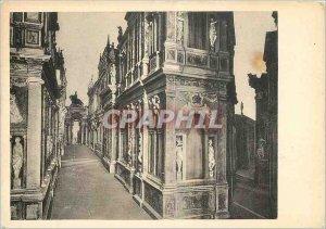Postcard Modern Vicenza Teatro Olimpico Dettaglio della scena