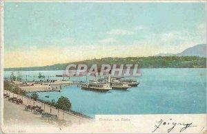 Old Postcard The Geneva Yacht harbor
