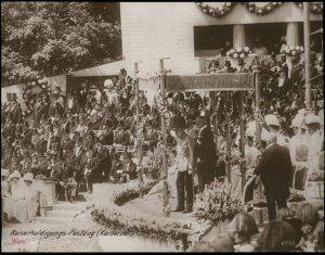 Austria 1908 Kaiser Franz Joseph Huldigungs Festival RPPC 94832