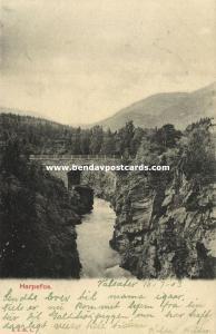 norway norge, HARPEFOSS, Sør-Fron, Bridge Scene (1903) Stamp