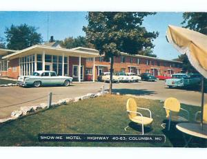 Unused Pre-1980 OLD CARS & SHOW ME MOTEL Columbia Missouri MO M0611