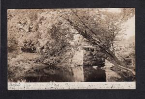 ME View Bridge BETHEL MAINE Real Photo RPPC Postcard 1906 PC Carte Postale
