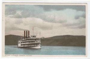 Steamer Robert Fulton Hudson River NY Phostint postcard