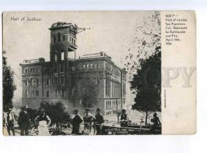 214126 USA EARTHQUAKE San-Francisco 1906 year Hall of Justice