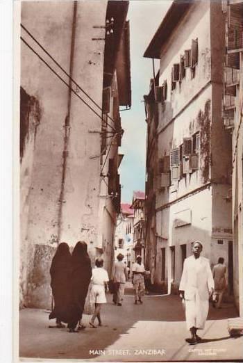Tanzania Zanzibar Main Street Scene Real Photo