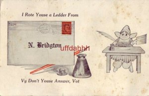 I ROTE YOUSE A LEDDER FROM N. BRIDGTON, ME Vy Don't Youse Answer, Vot 1915