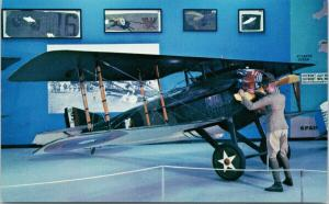 Spad VII French Fighter Airplane Air Force Museum Ohio Unused Postcard F1