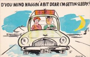 Humour Couple In Car D'You Mind Naggin' A Bit Dear I'm Gettin Sleepy