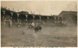 LIMA PERU BULL FIGHT CORRIDA 1908 ANTIQUE REAL PHOTO POSTCARD RPPC