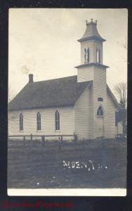 RPPC ALDEN IOWA METHODIST CHURCH BUILDING VINTAGE REAL PHOTO POSTCARD IA.