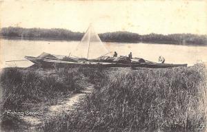 Lagos Africa Fishing Canoes Collo-Photo Raphael Tuck Postcard