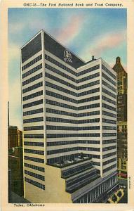 First National Bank and Trust Company Tulsa Oklahoma OK Linen