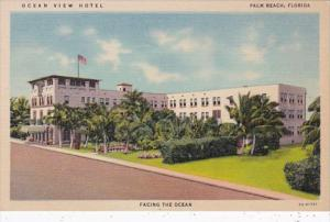 Florida Palm Beach Ocean View Hotel Curteich