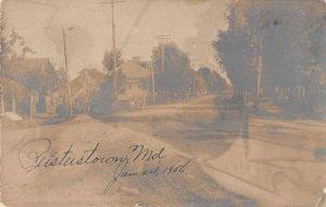 Reisterstown Maryland Street Scene Real Photo Vintage Postcard AA4025