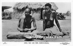 Dinka Man & Wife Bahr El Ghazal African Nude Unused