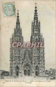 Old Postcard Chalons sur Marne surroundings Church of Our Lady of the Thorn F...