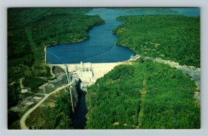Thessalon On- Ontario, Rayner Dam, Natural Flora Fauna, River, Chrome Postcard