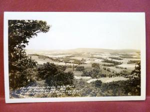 Postcard MD Backbone Mountain View from Table Rock RPPC Real Photo