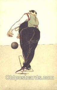 Bowling, Bowling Alley, Postcard Postcards