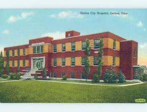Unused Linen HOSPITAL SCENE Galion - Near Bucyrus & Mansfield Ohio OH d5557