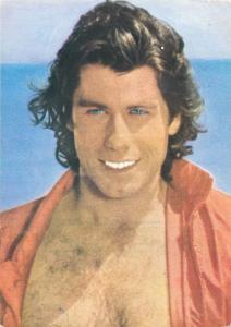 American actor John Travolta postcard
