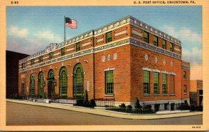 Pennsylvania Uniontown Post Office 1953 Curteich