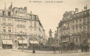 Belgium Brussels Place de la liberte statue round square
