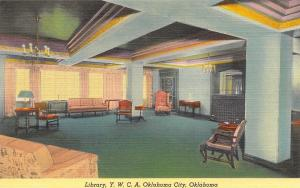 Oklahoma City~Lobby Simple Library~Young Women's Christian Assoc 1940s Linen