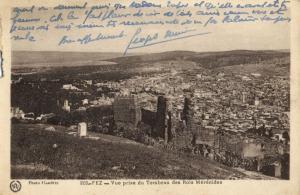 CPA Maroc Fez Vue prise du Tombeau  (22400)