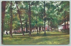 Lake Geneva Wisconsin~Dinner Time~Summer Encampment~YMCA College~c1910