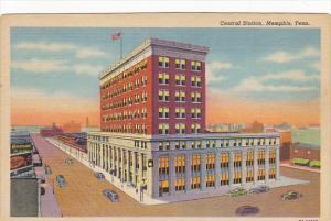 Tennessee Memphis Central Railroad Station Curteich