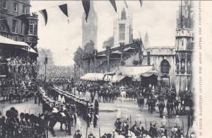 ENGLAND, 1901-07 ;Their Majesties Leaving The Abbey After The Coronation TUCK