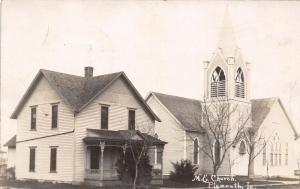 Plymouth IA Look Natural? United Methodist Episcopal Church~Parsonage~RPPC 1907