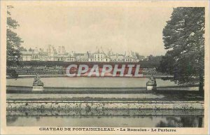 Postcard Old Chateau of Fontainebleau Romulus Le Parterre